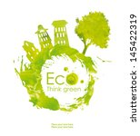 illustration environmentally... | Shutterstock . vector #145422319