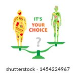 weight loss. the influence of... | Shutterstock .eps vector #1454224967
