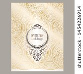 wedding invitation card with... | Shutterstock .eps vector #1454226914