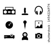 various multimedia icon vector...