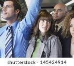 closeup of a female commuter... | Shutterstock . vector #145424914