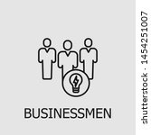 outline businessmen vector icon.... | Shutterstock .eps vector #1454251007