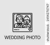 outline wedding photo vector... | Shutterstock .eps vector #1454270747