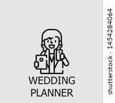 outline wedding planner vector... | Shutterstock .eps vector #1454284064