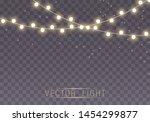 christmas lights isolated on... | Shutterstock .eps vector #1454299877