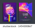 summer synthwave party set of... | Shutterstock .eps vector #1454300867