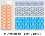 set of colorful seamless... | Shutterstock .eps vector #1454318417