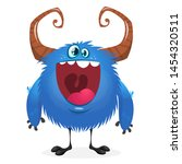 Stock photo funny happy cartoon little bigfoot character laughing 1454320511
