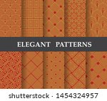 10 different elegant classic... | Shutterstock .eps vector #1454324957