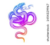 snake in blurple gradient color.... | Shutterstock .eps vector #1454329967