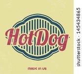 retro food sign   vintage... | Shutterstock .eps vector #145434865