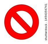 not allowed sign icon. flat...   Shutterstock .eps vector #1454354741