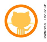 Stock vector cat icon flat illustration of cat vector icon cat sign symbol 1454354834