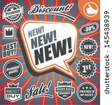 vector set of retro promotional ... | Shutterstock .eps vector #145438939