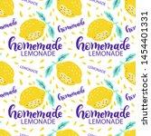 background with fresh lemons...   Shutterstock .eps vector #1454401331