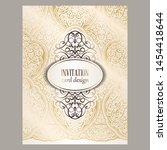 wedding invitation card with... | Shutterstock .eps vector #1454418644