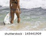preparing for the surfing on... | Shutterstock . vector #145441909