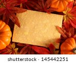 autumn or thanksgiving greeting ... | Shutterstock . vector #145442251