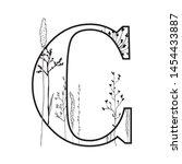 vector graphic floral alphabet  ... | Shutterstock .eps vector #1454433887
