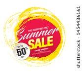 summer sale banner layout... | Shutterstock .eps vector #1454436161