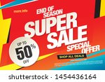 sale banner layout design ... | Shutterstock .eps vector #1454436164