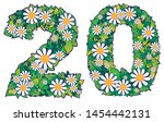 number twenty written with... | Shutterstock .eps vector #1454442131