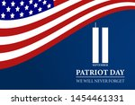 never forget september 11  2001 ... | Shutterstock .eps vector #1454461331