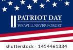 never forget september 11  2001 ... | Shutterstock .eps vector #1454461334
