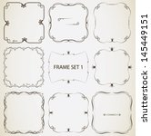 vintage frame set 1. abstract... | Shutterstock .eps vector #145449151