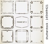 vintage frame set 2. abstract... | Shutterstock .eps vector #145449421