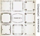 vintage frame set 2. abstract... | Shutterstock .eps vector #145449421