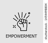 outline empowerment vector icon.... | Shutterstock .eps vector #1454498804