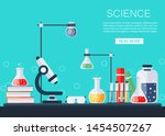 science banner. chemical lab... | Shutterstock .eps vector #1454507267