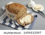 Slice Of Tasty Bread With...