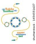 indian festival raksha bandhan...   Shutterstock .eps vector #1454551637