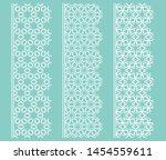 vector set of line borders with ... | Shutterstock .eps vector #1454559611