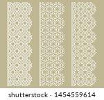 vector set of line borders with ... | Shutterstock .eps vector #1454559614