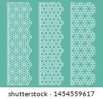 vector set of line borders with ... | Shutterstock .eps vector #1454559617