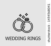 outline wedding rings vector... | Shutterstock .eps vector #1454568041
