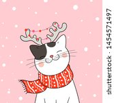 Draw  Illustration Cute Cat...