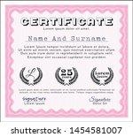pink certificate template. good ... | Shutterstock .eps vector #1454581007