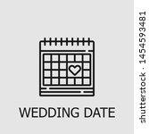 outline wedding date vector... | Shutterstock .eps vector #1454593481