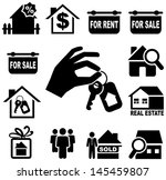 real estate icons | Shutterstock .eps vector #145459807