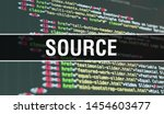 Stock photo source concept illustration using code for developing programs and app source website code with 1454603477