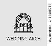 outline wedding arch vector... | Shutterstock .eps vector #1454605754