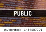 public with abstract technology ... | Shutterstock . vector #1454607701