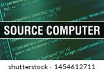 Stock photo source computer concept illustration using code for developing programs and app source computer 1454612711