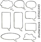 set of comic speech bubbles... | Shutterstock .eps vector #145461445