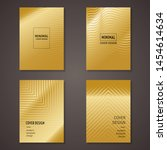 golden minimalist cover design...   Shutterstock .eps vector #1454614634
