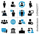 business people icons. | Shutterstock .eps vector #145461577